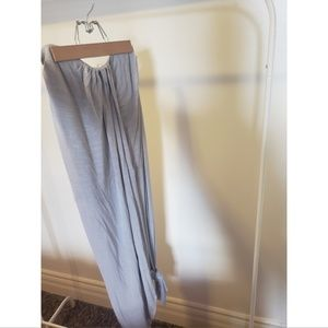Free People Grey Long Maxi Skirt